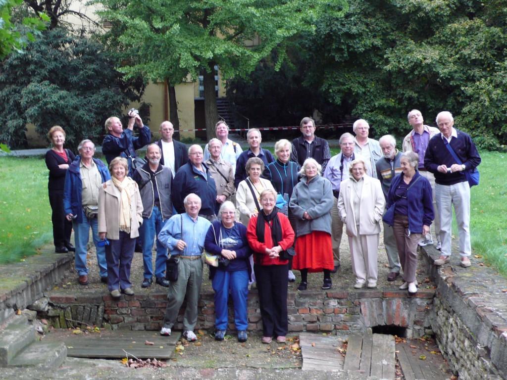 Science tour group at Mendel's original greenhouse